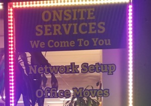 onsite services sign