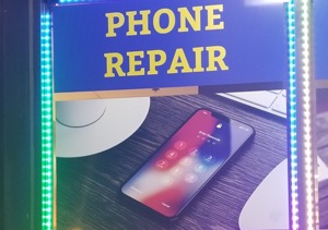 phone repair sign