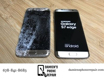 before and after phone repair