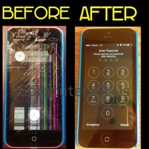 Before-and-after cell phone repair