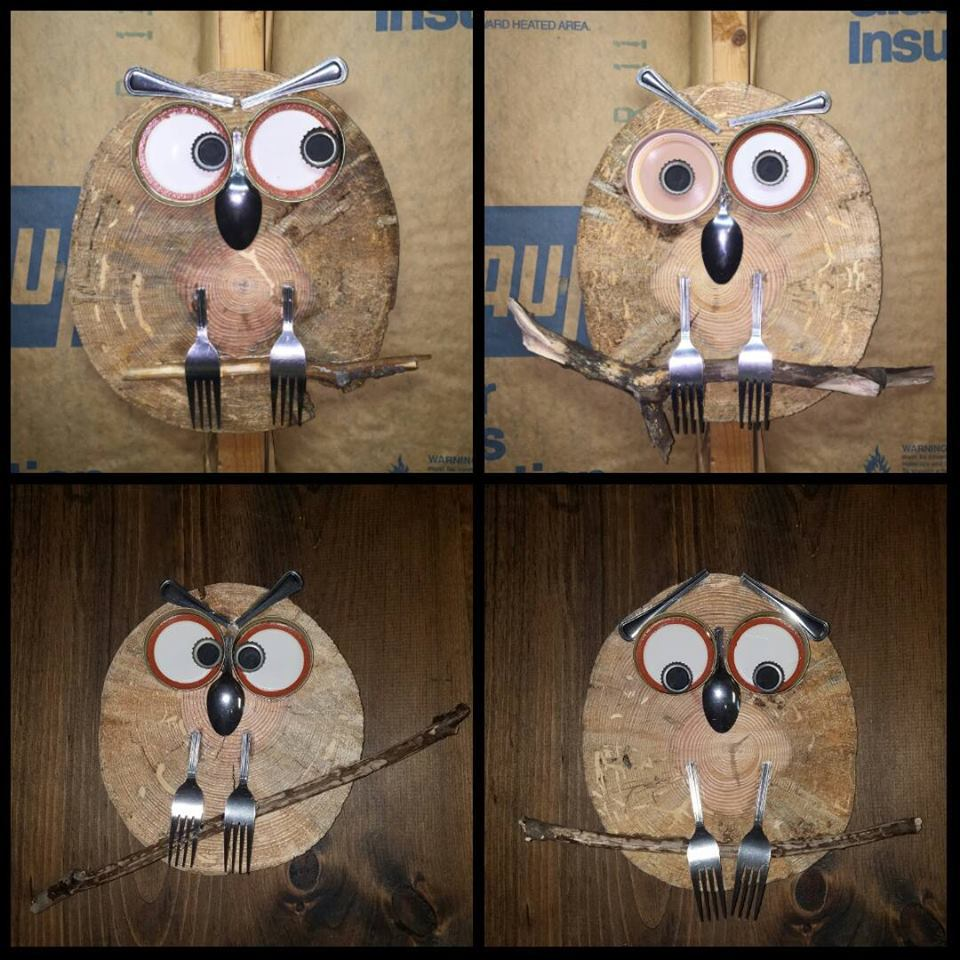 custom hand made owl art