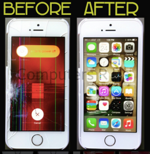 before and after iphone screen